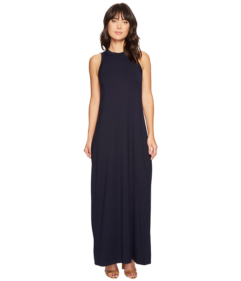 Karen Kane High Neck Maxi (Navy) Women