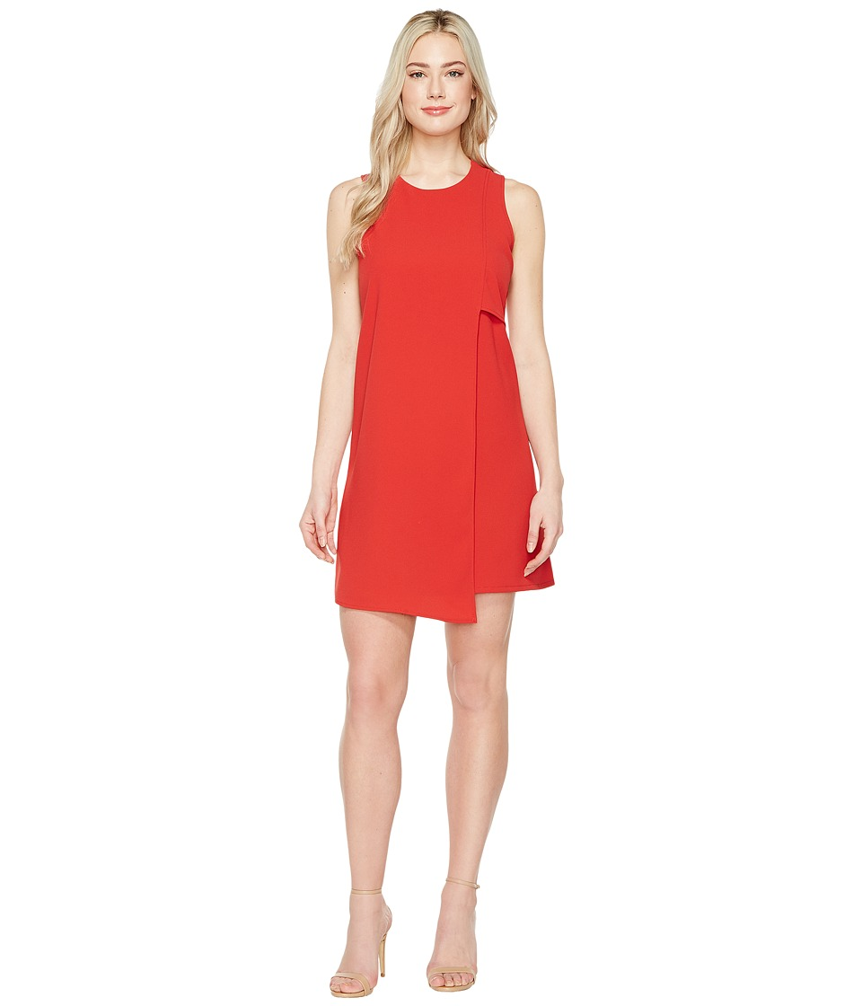 Karen Kane Asymmetric Shift Dress (Tomato) Women