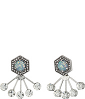 Rebecca Minkoff - Opal Fan Back Ear Jacket Earrings