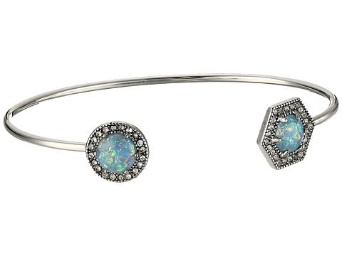 Rebecca Minkoff Opal Baby Cuff Bracelet - Antique Silver/Blue Opal