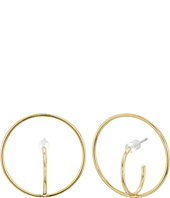 Rebecca Minkoff - Encircled Baby Hoop Earrings