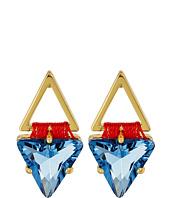 Rebecca Minkoff - Thread Wrapped Geometric Stud Earrings