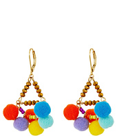 Rebecca Minkoff - Savanna Pompom Chandeliers Earrings