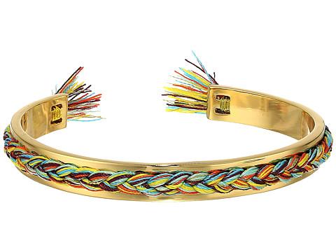 Rebecca Minkoff Braided Cuff Bracelet - Gold/Bright Multi/Gold Thread