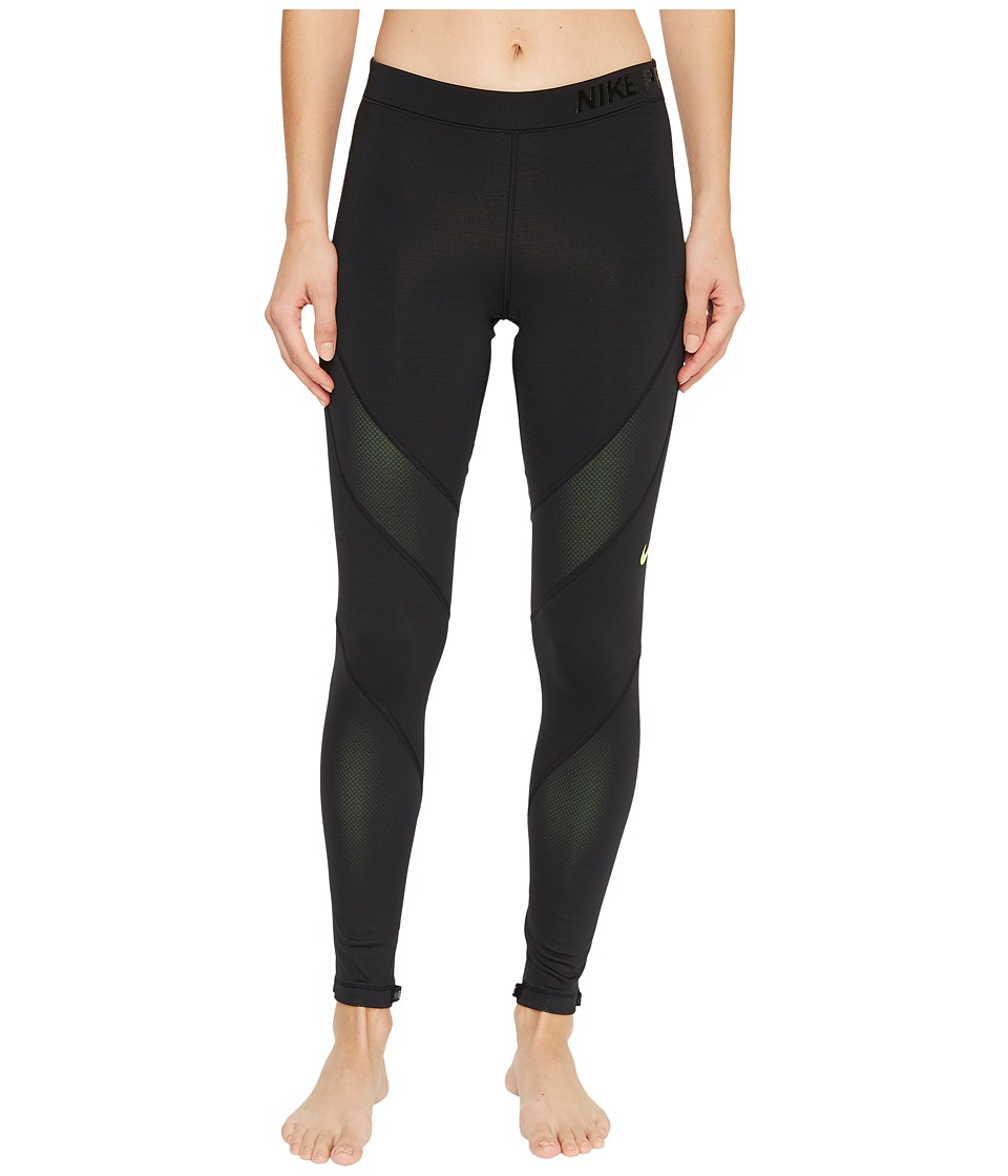 Nike Pro Hyperwarm Training Tight (Black/Volt) Women