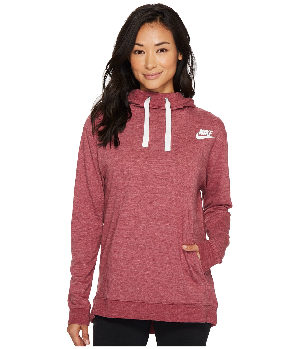 Nike Sportswear Gym Classic Pullover Hoodie (Port/Heather/Sail) Women