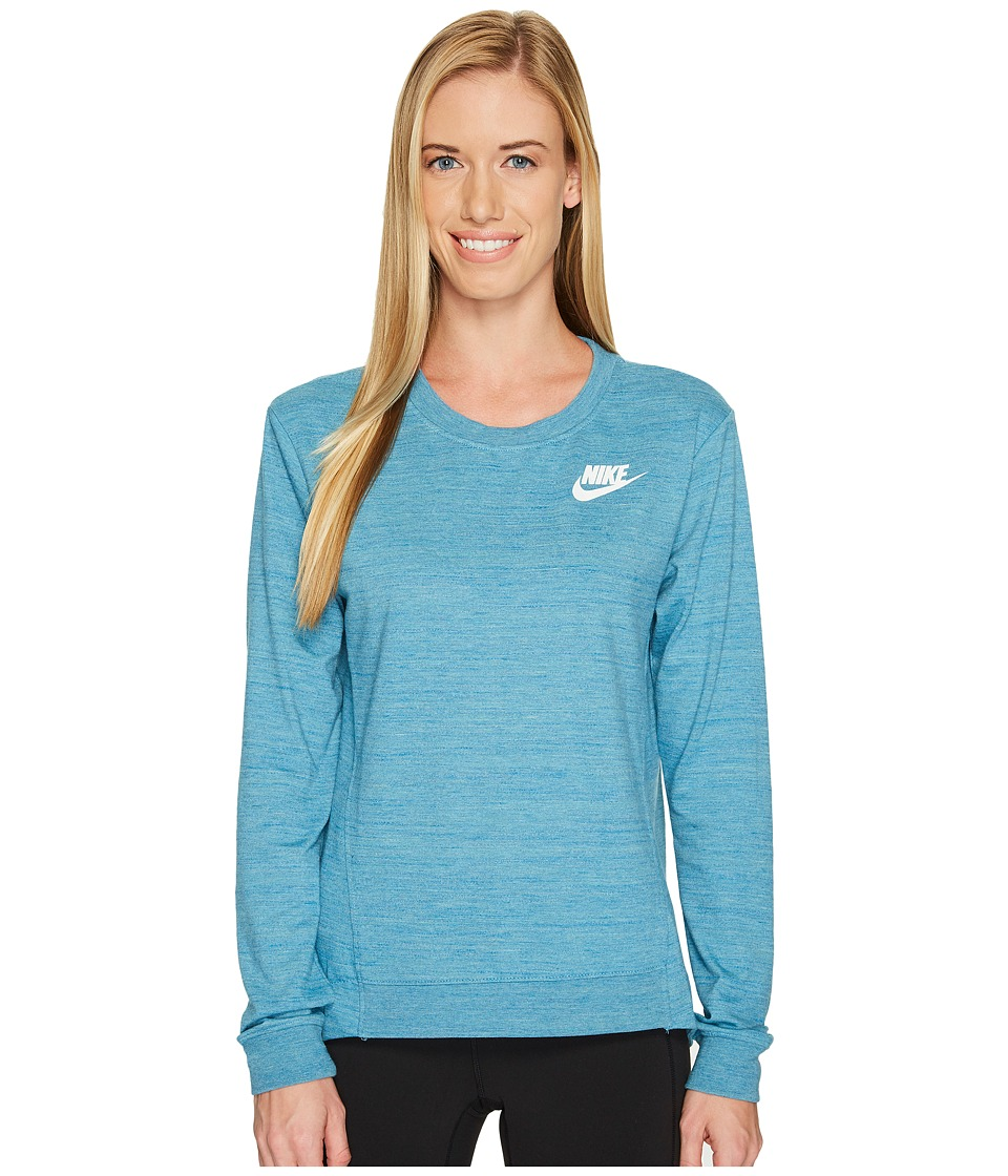 Nike Sportswear Gym Classic Crew (Cerulean/Heather/Sail) Women