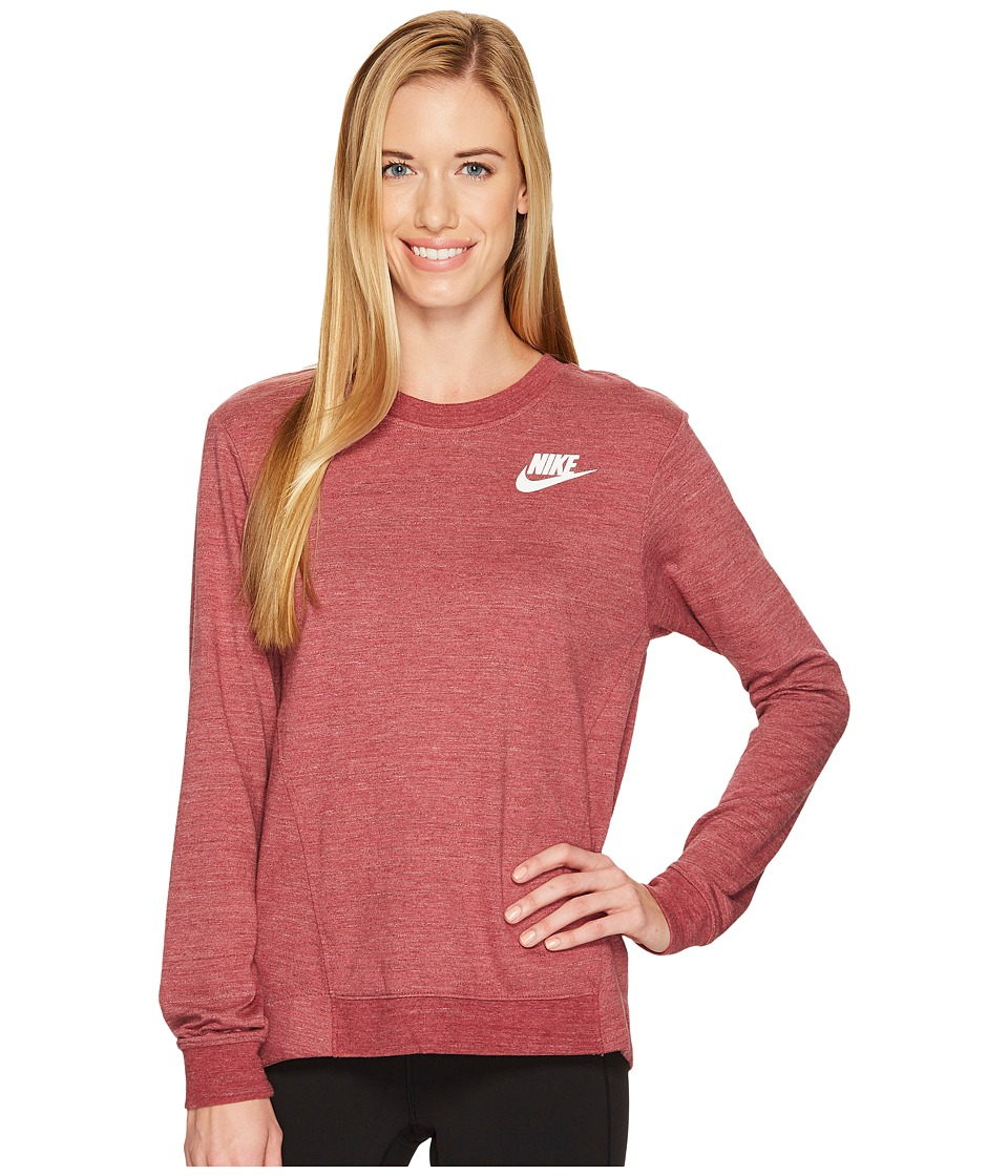 Nike Sportswear Gym Classic Crew (Port/Heather/Sail) Women