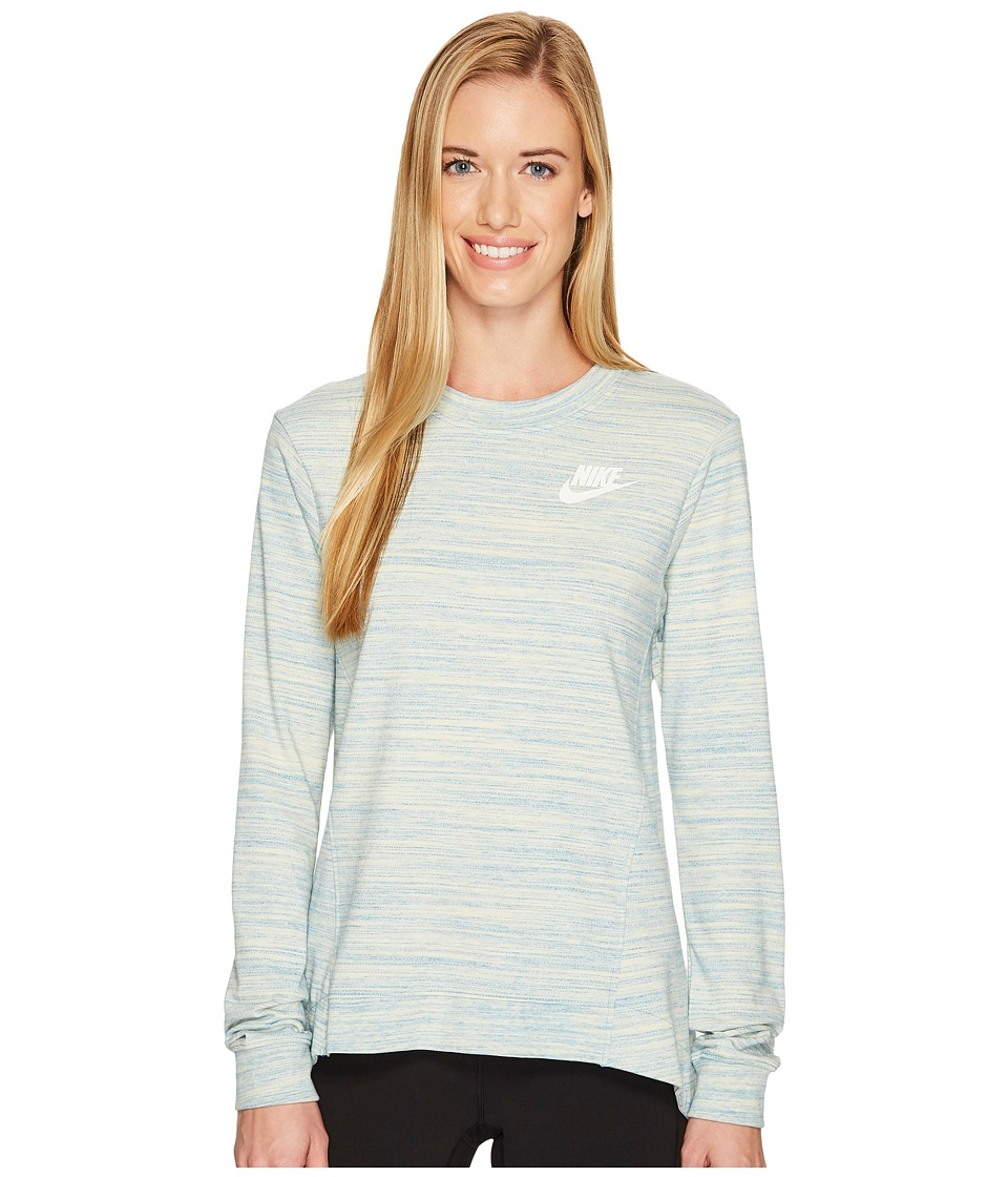 Nike Sportswear Gym Classic Crew (Light Armory Blue/Heather/Sail) Women