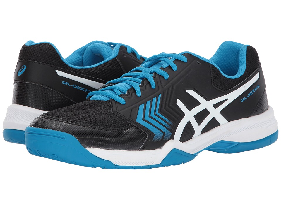 ASICS - Gel-Dedicate 5 (Black/Hawaiian Surf/White) Mens Tennis Shoes