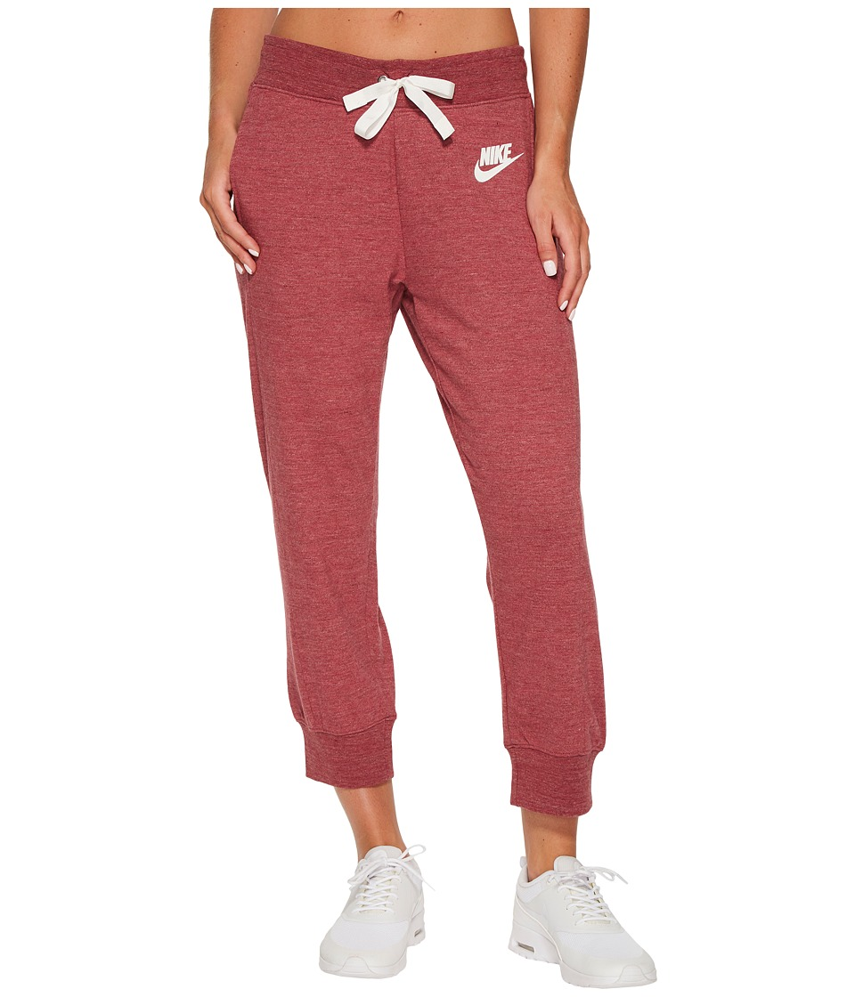 Nike Sportswear Gym Classic Capri (Port/Heather/Sail) Women