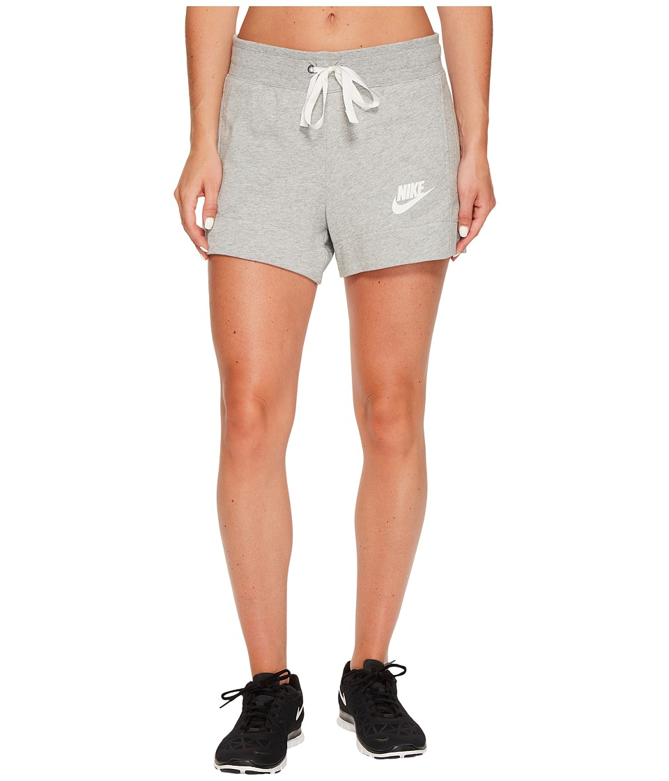 Nike Sportswear Gym Classic Short (Dark Grey Heather/Sail) Women