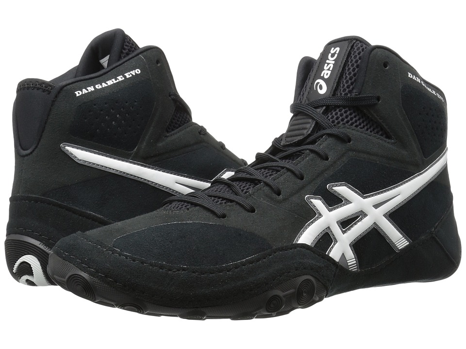 Asics Dan Gable Evo (Black/White/Carbon) Men's Wrestling ...