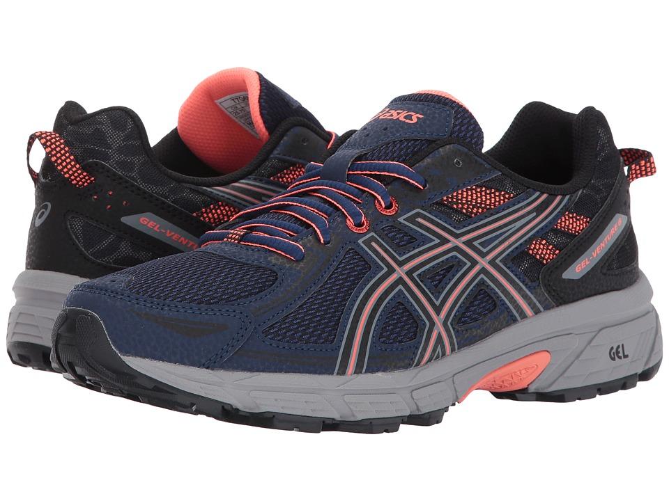 ASICS GEL-Venture 6 (Indigo Blue/Black/Flash Coral) Women's Running Shoes