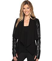 Blanc Noir - Drape Front Jacket