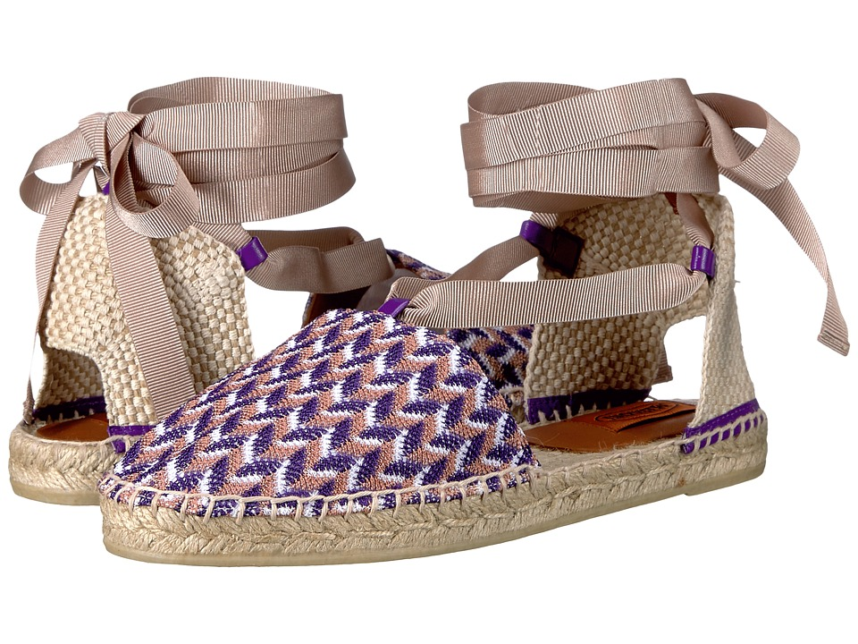 Missoni Ankle Wrap Espadrille (Violet) Women