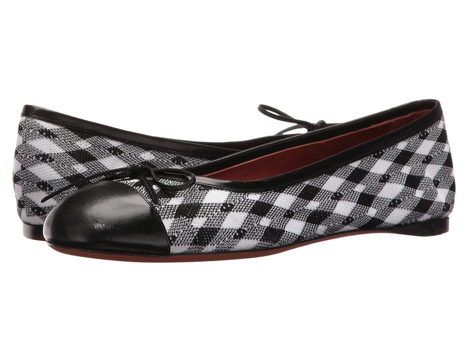 Missoni-Printed-Ballerina--(Black-White)-Womens-Shoes