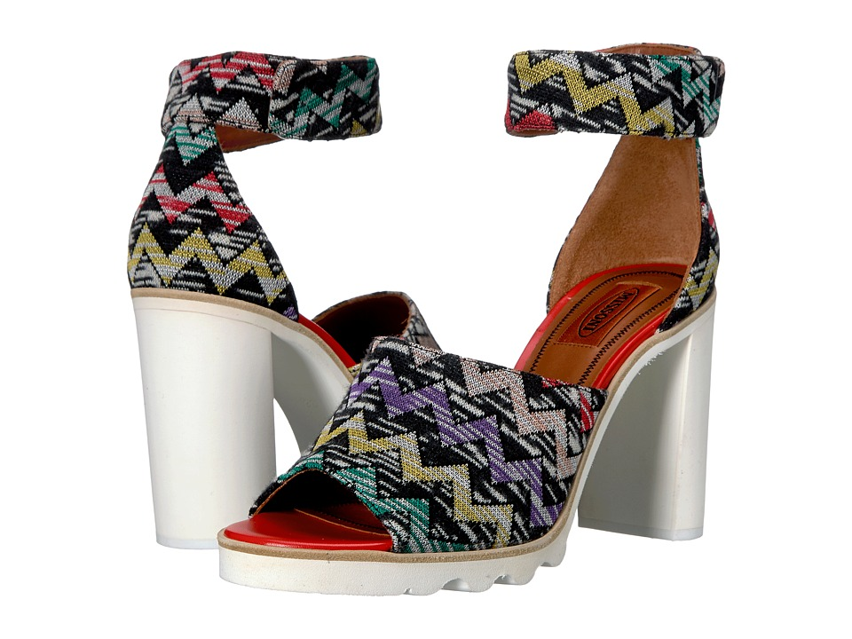 Missoni Ankle Band Zigzag Sandal (Multi) Women