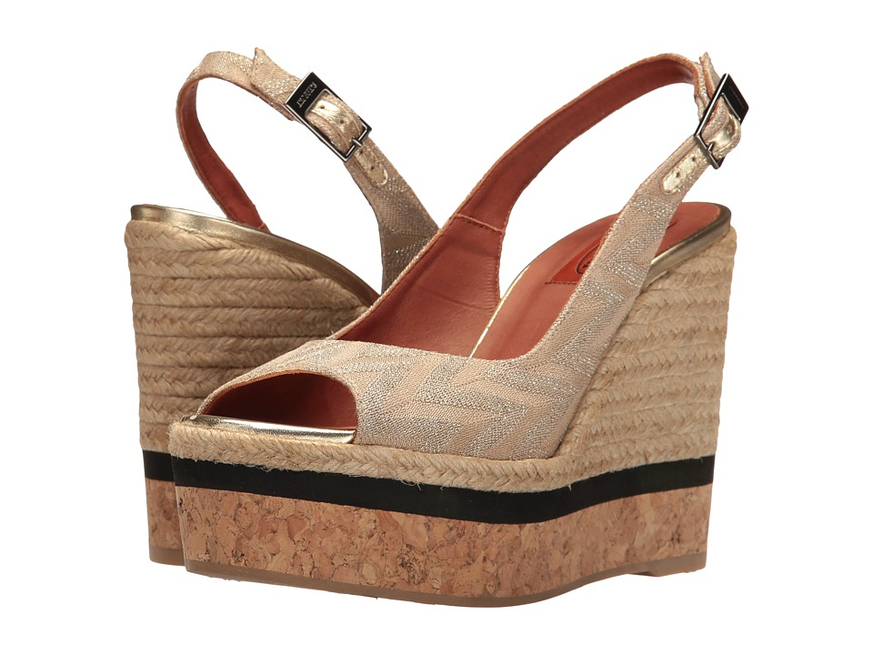 Missoni Sling Wedge Platform (Gold) Women