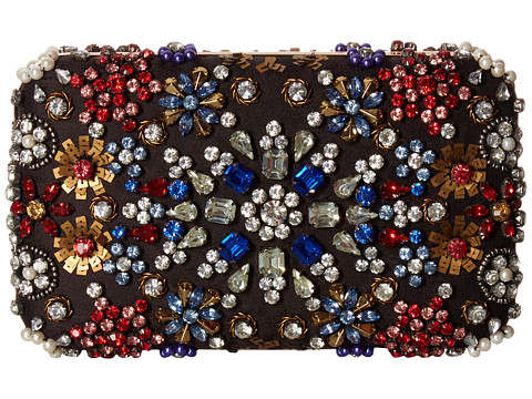 Alice + Olivia Embellished Crystal Snowflake Large Clutch