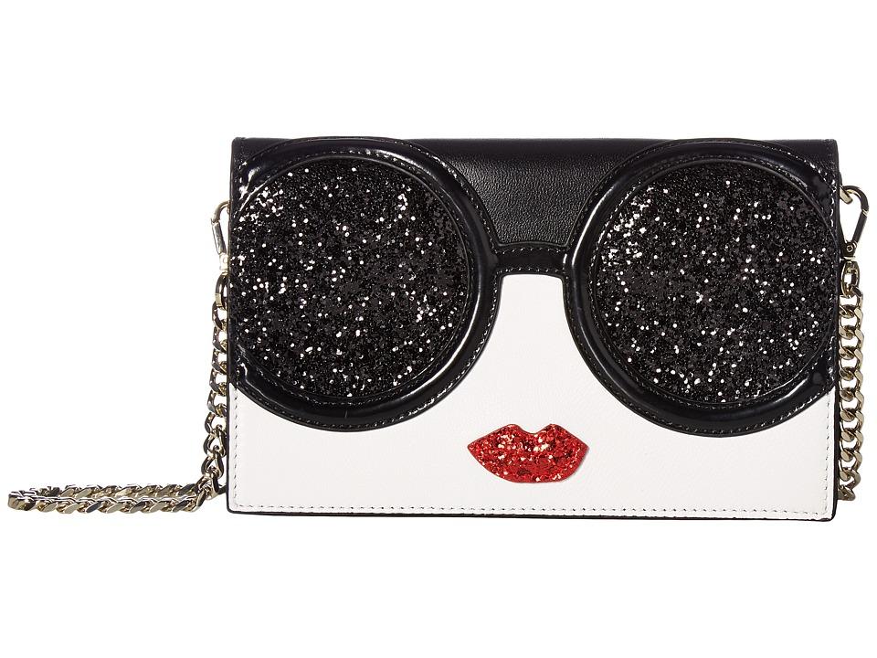 Alice + Olivia Stace Face Glitter Long Wallet Crossbody (...