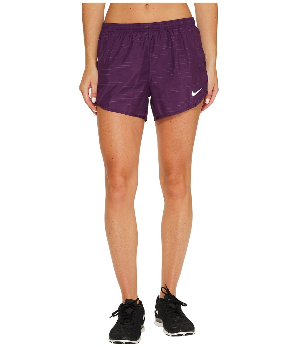 Nike Modern Tempo 3 Printed Running Short (Bold Berry/Bold Berry) Women
