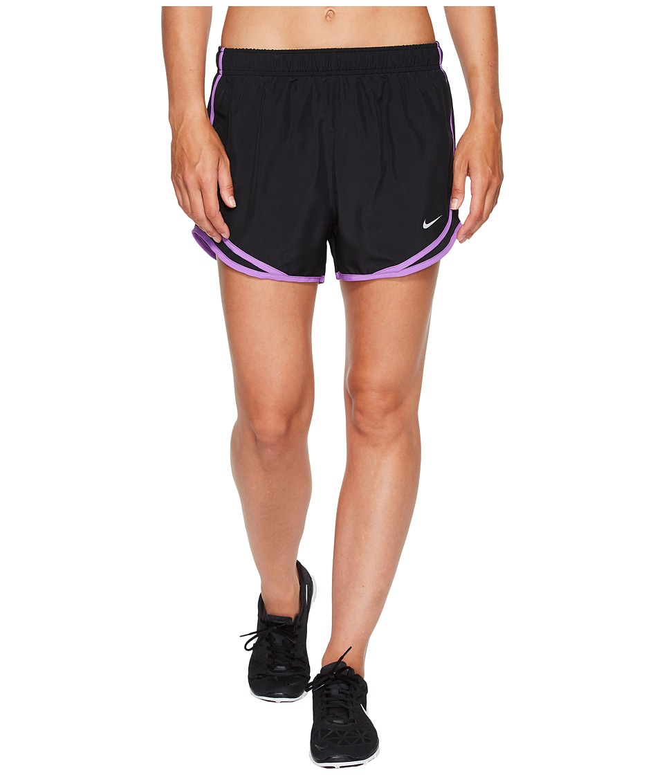 Nike Dry Tempo Short (Black/Black/Bright Violet/Wolf Grey) Women