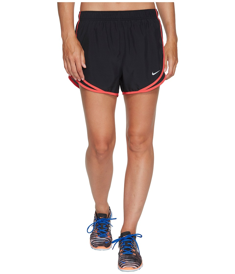 Nike Dry Tempo Short (Black/Black/Siren Red/Wolf Grey) Women