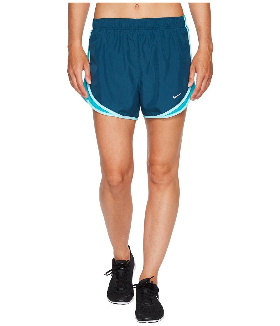Nike Dry Tempo Short (Space Blue/Turbo Green/Wolf Grey) Women