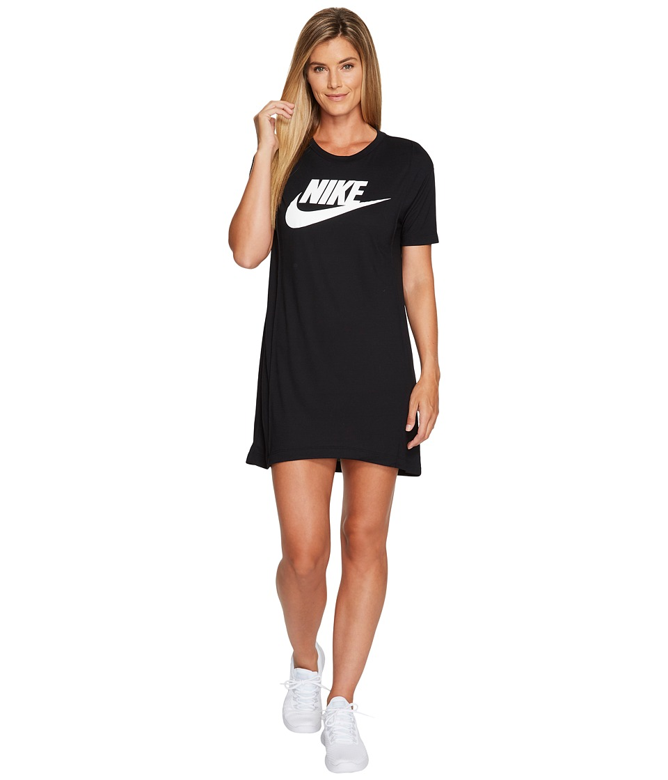 Nike Sportswear Essential HBR Dress (Black/White) Women