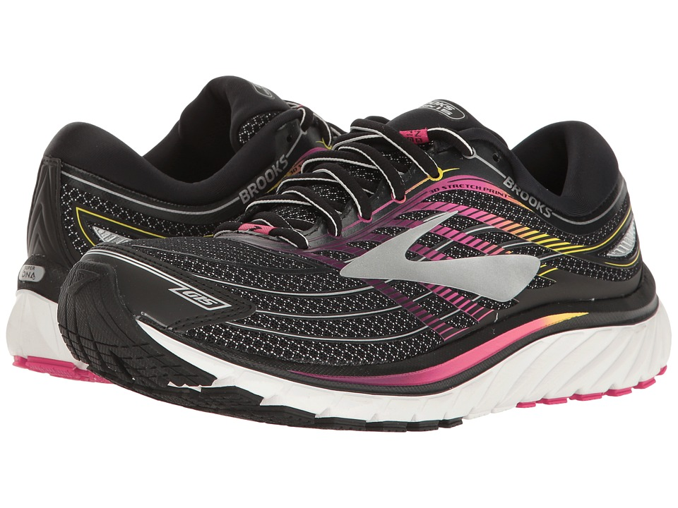 BROOKS Glycerin(r) 15 (Black/Pink Peacock/Plum Caspia) Wo...