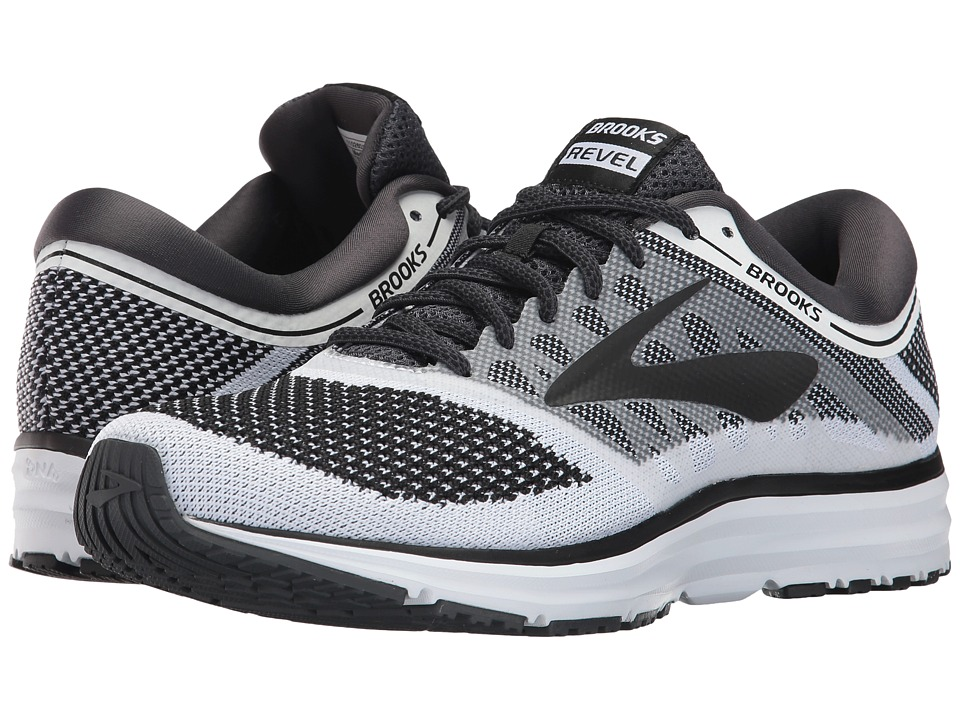 Brooks - Revel (White/Anthracite/Black) Mens Running Shoes