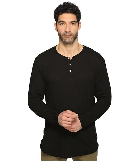 KINETIX Jetsetter Henley Long Sleeve - Black