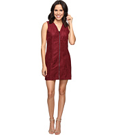 Brigitte Bailey - Bishop Faux Suede Front Zip Dress