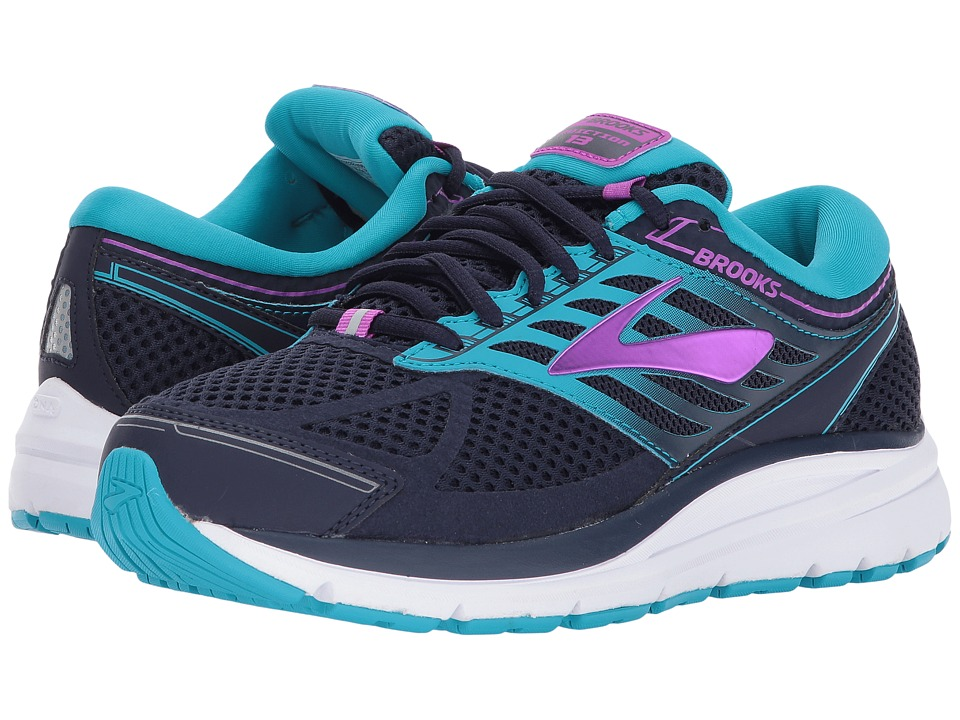 Brooks Addiction 13 (Evening Blue/Teal Victory/Purple Cactus Flower) Women's Running Shoes