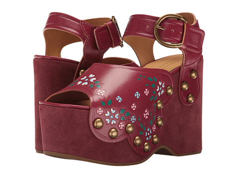 Marc Jacobs Dawn Wedge Sandal - Wine