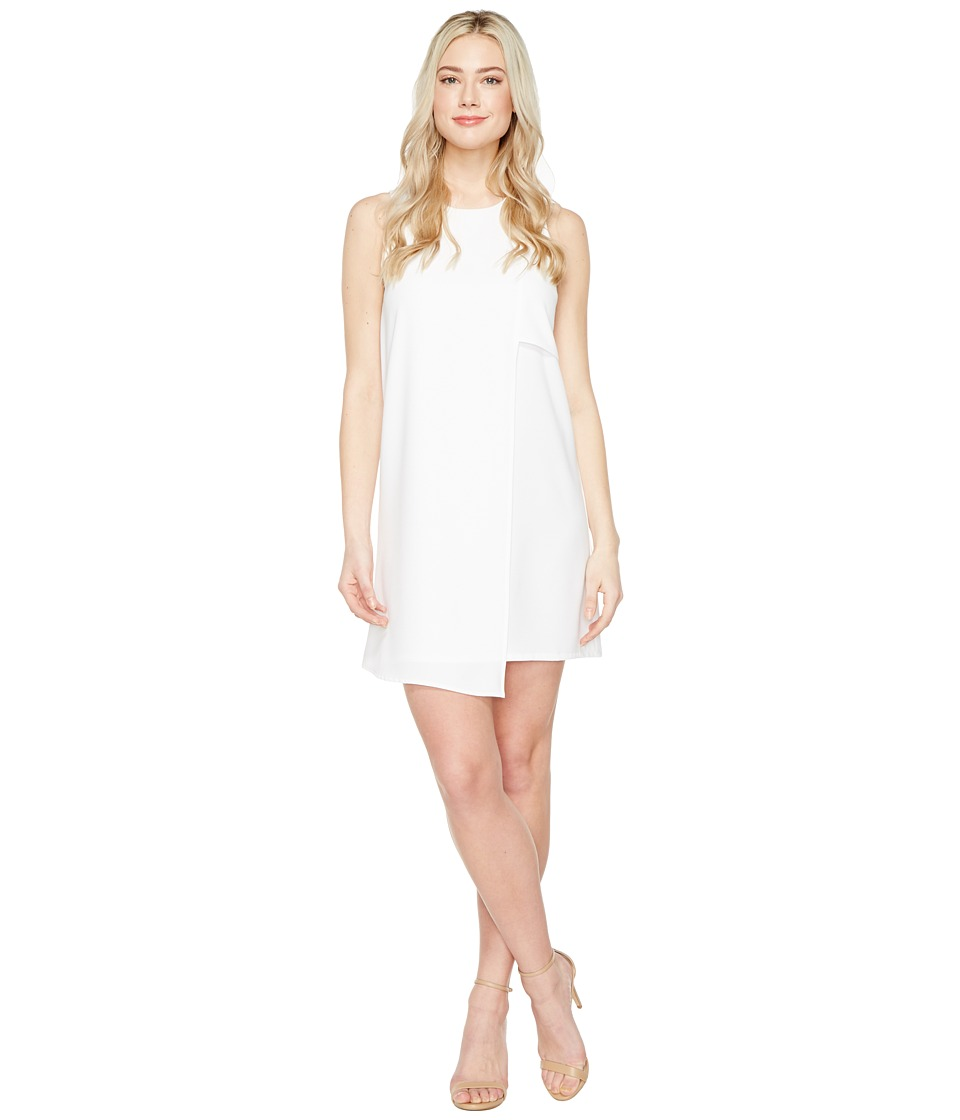 Karen Kane Asymmetric Shift Dress (Off-White) Women