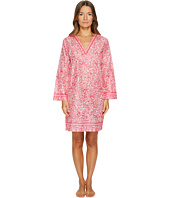 Oscar de la Renta Pink Label - Printed Cotton Lawn V-Neck Haftan