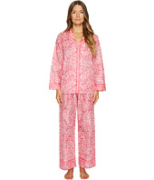 Oscar de la Renta Pink Label - Pajama Printed Cotton Lawn Set