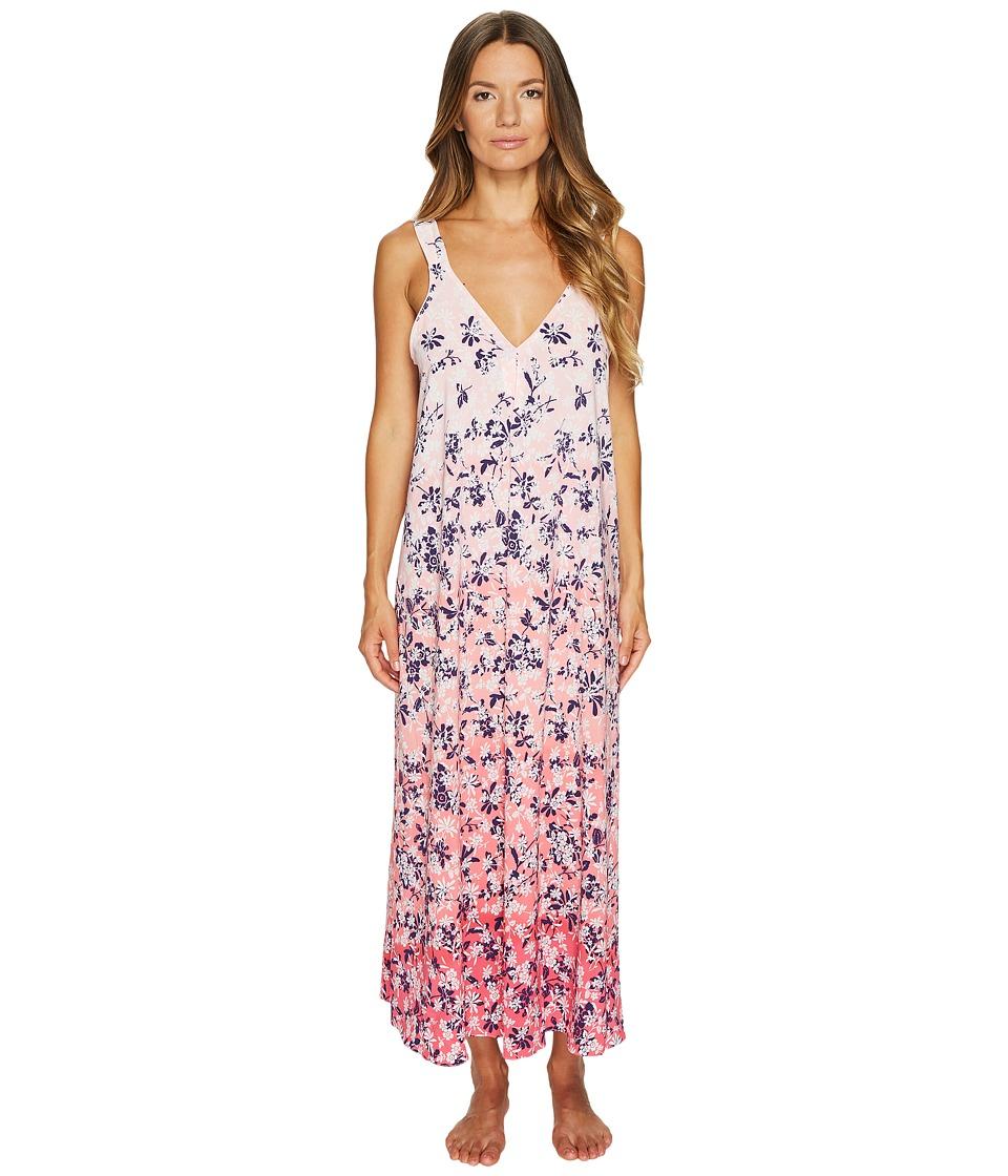 Oscar de la Renta Pink Label - 51 Printed Stretch De Chine Floral Gown