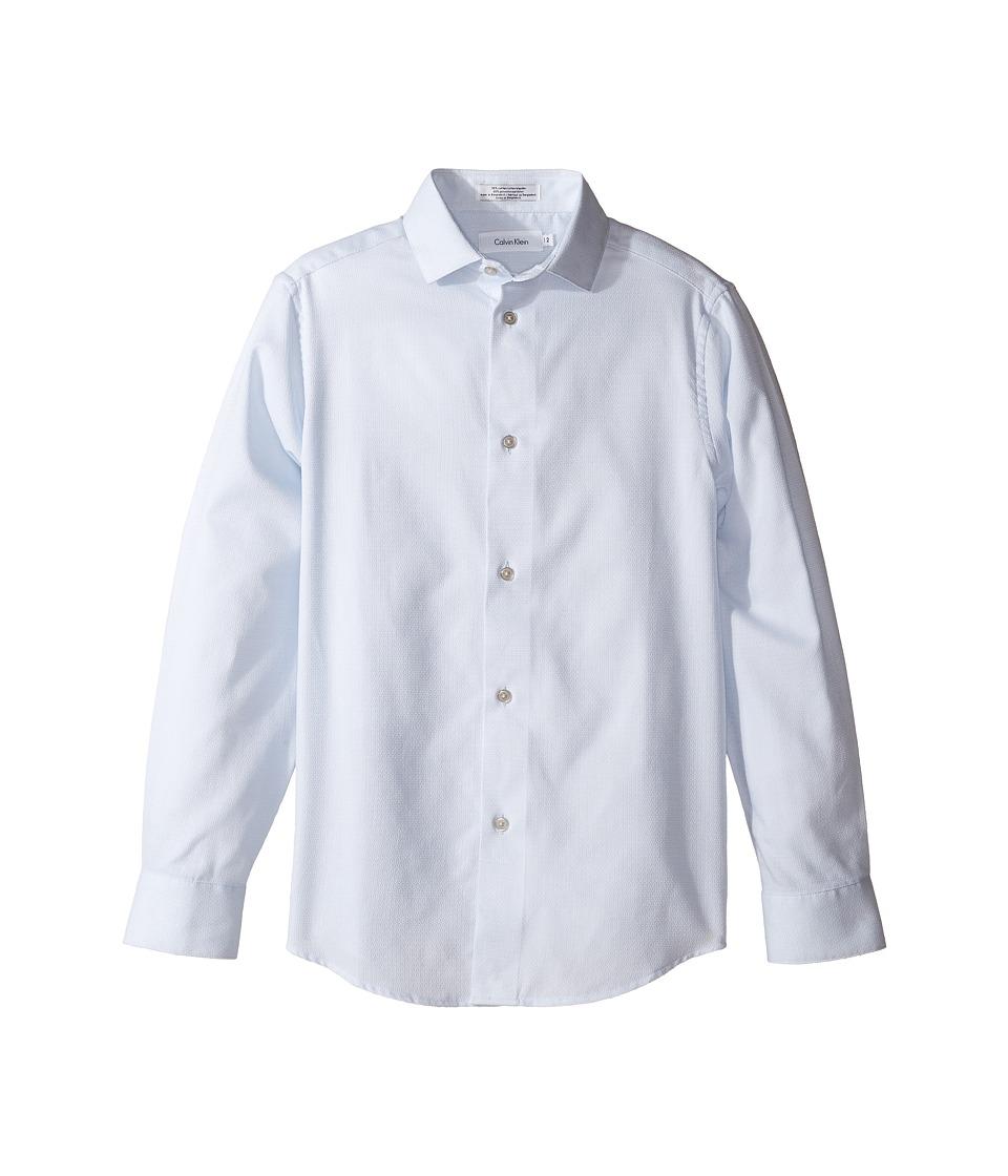 Calvin Klein Kids - Honeycomb Solid Texture Long Sleeve Shirt