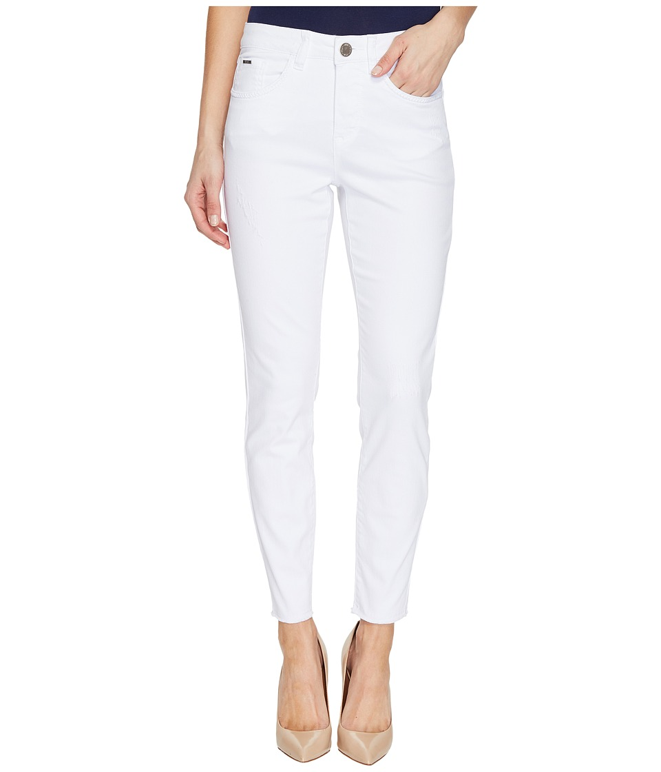 FDJ French Dressing Jeans - Olivia Fashion Slim Ankle Zigzag Frayed Hem in White