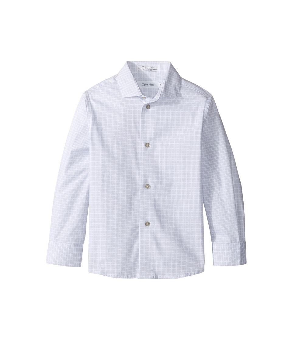 Calvin Klein Kids - Long Sleeve Square Dot Print Shirt