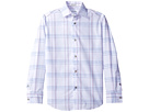 Calvin Klein Kids - Long Sleeve Echo Windowpane Shirt (Big Kids)