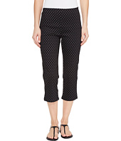 FDJ French Dressing Jeans - Dot Print Pull-On Capris in Black/White