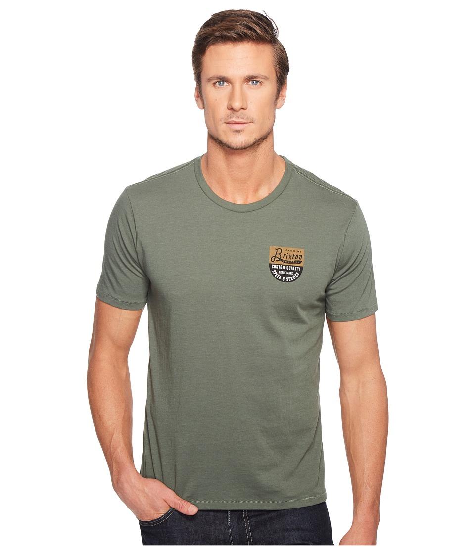 Brixton Badge Short Sleeve Premium Tee (Chive) Men