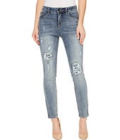 FDJ French Dressing Jeans - Olivia Fashion Slim Ankle Rip & Repair with Lace in Light Indigo