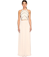 Aidan Mattox - Hand Beaded Crop Top Gown