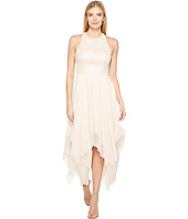 Aidan Mattox - Jacquard Draped Chiffon Dress