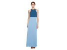 Two-Tone Pop Over 2-Ply Crepe Gown
